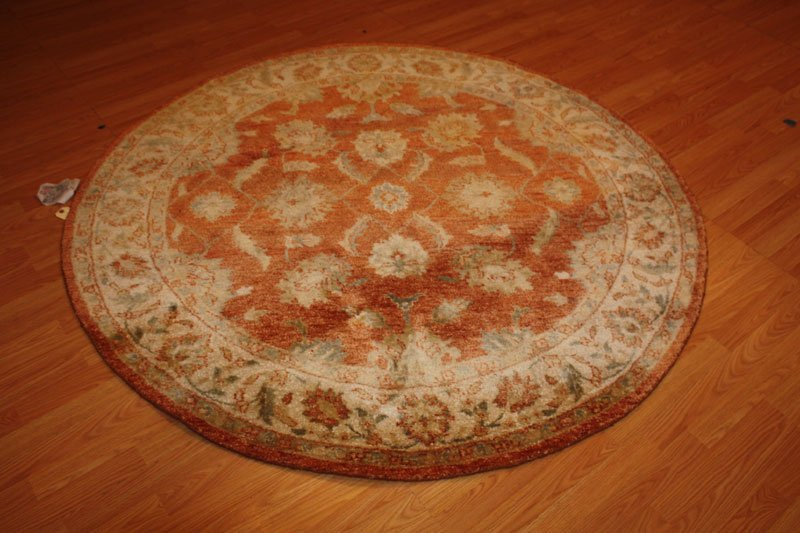 2D: 6x6 Persian Mahal Round Wool Hand Knotted Rug