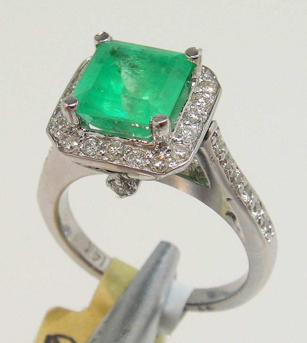2BA: 2.41ct Emerald & 0.62ct Diamond 14KT Gold Ring
