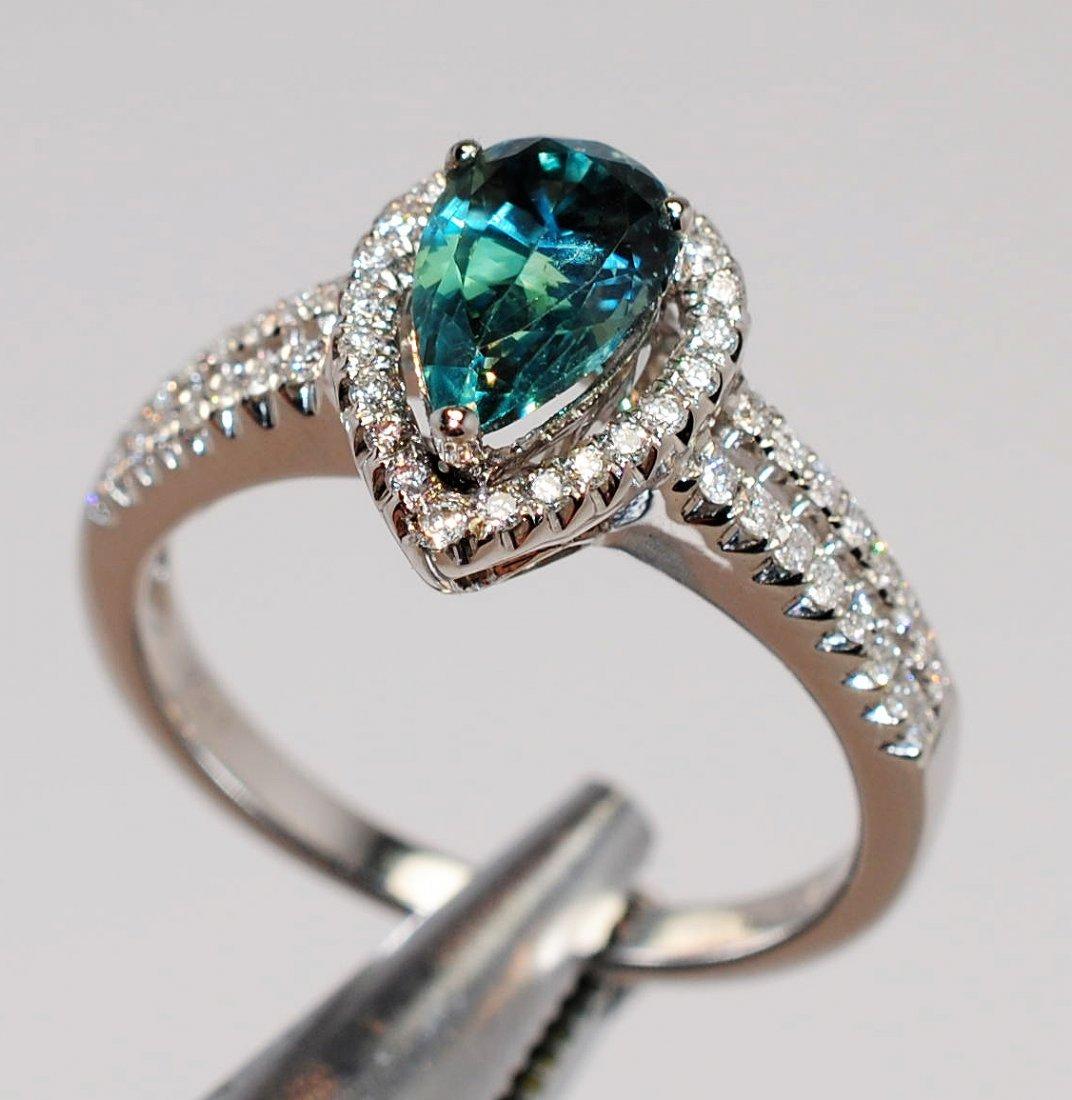 1.57ct Alexandrite & 0.29ctw Diamond 14KT Gold Ring