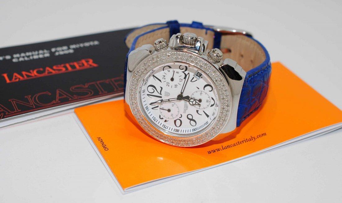 1Z: Genuine Lancaster Diamond Chronograph Wristwatch