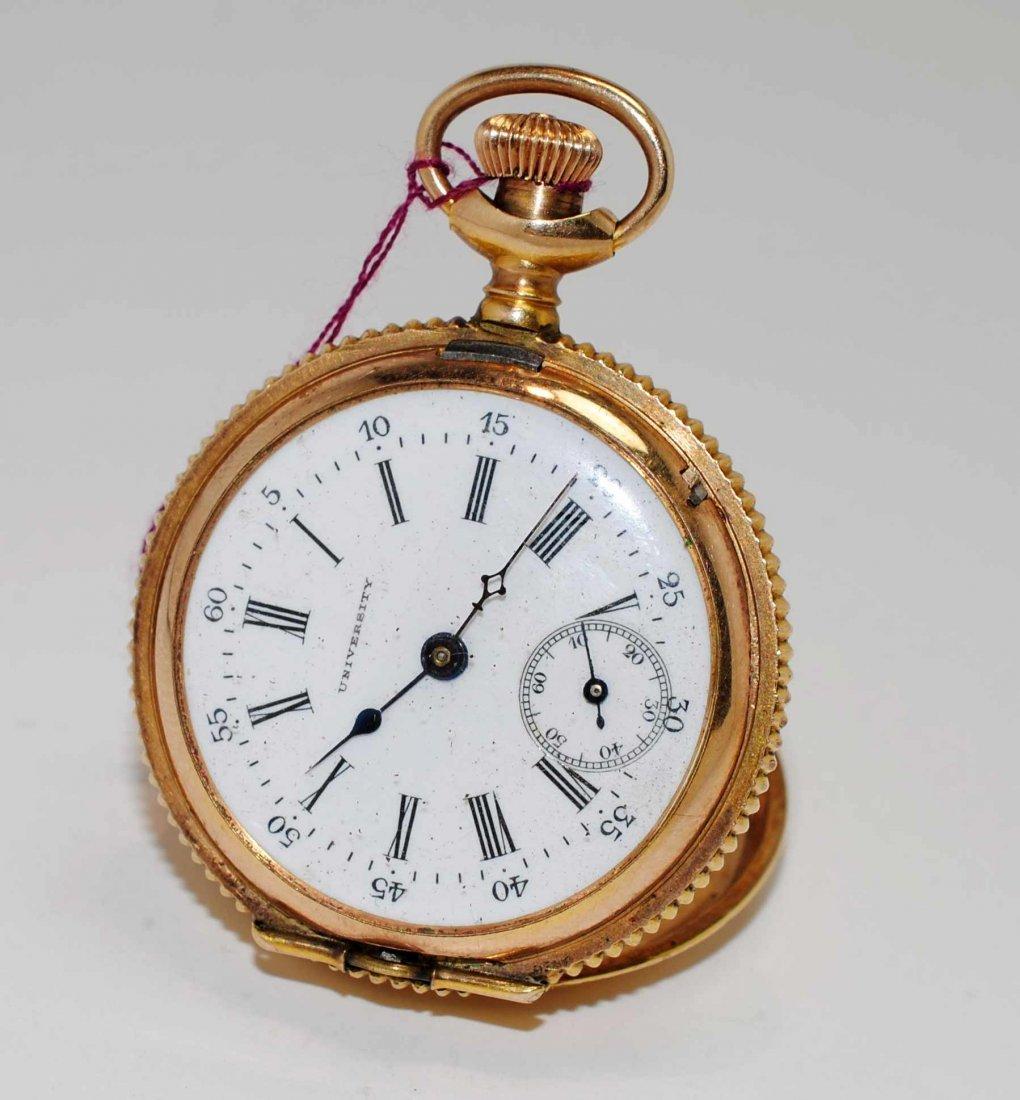 1U: Antique University Round Pocket Watch