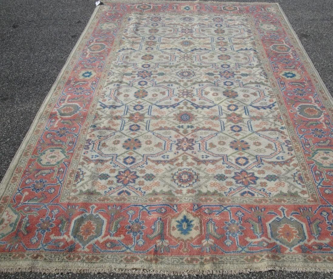 6'7 x 10 PERSIAN SULTANABAD OUSHAK DSGN HANDMADE A