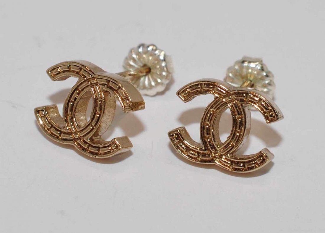 1D: Genuine Chanel Stud Earrings