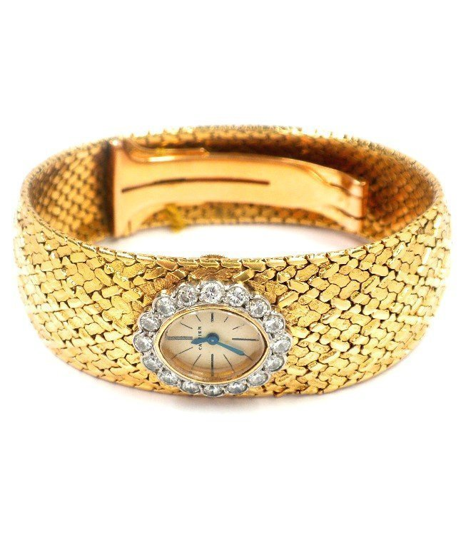 80A: 1920's Vintage Original Cartier 18KT Diamond Wrist