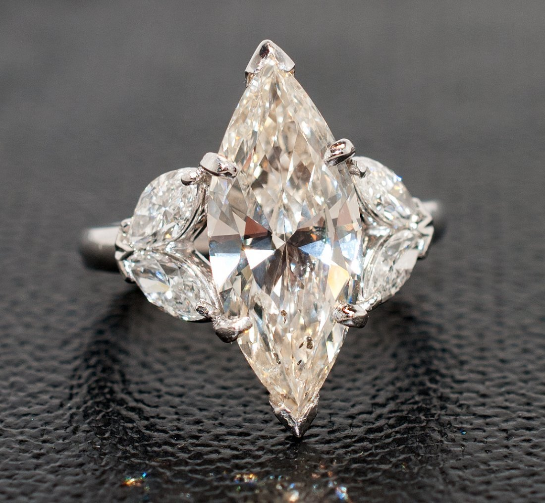 5.05ct (4.01ct SI1 J CNTR) Diamond 14KT White Gold Ring