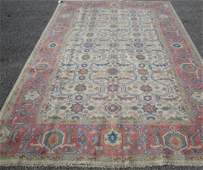 84C: 6'7 x 10 PERSIAN SULTANABAD OUSHAK DSGN HANDMADE A