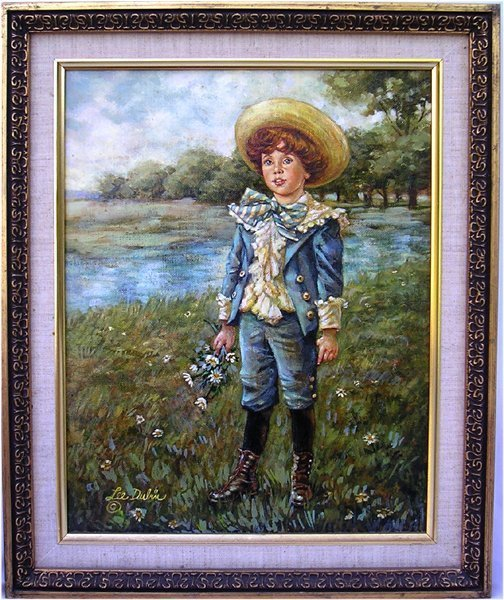 Lee Dubin ''Blue Boy'' Hand Signed Oil painting framed