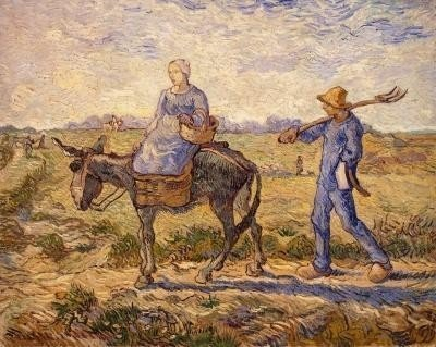 Vincent Van Gogh - Morning, Going Out to Work Giclee