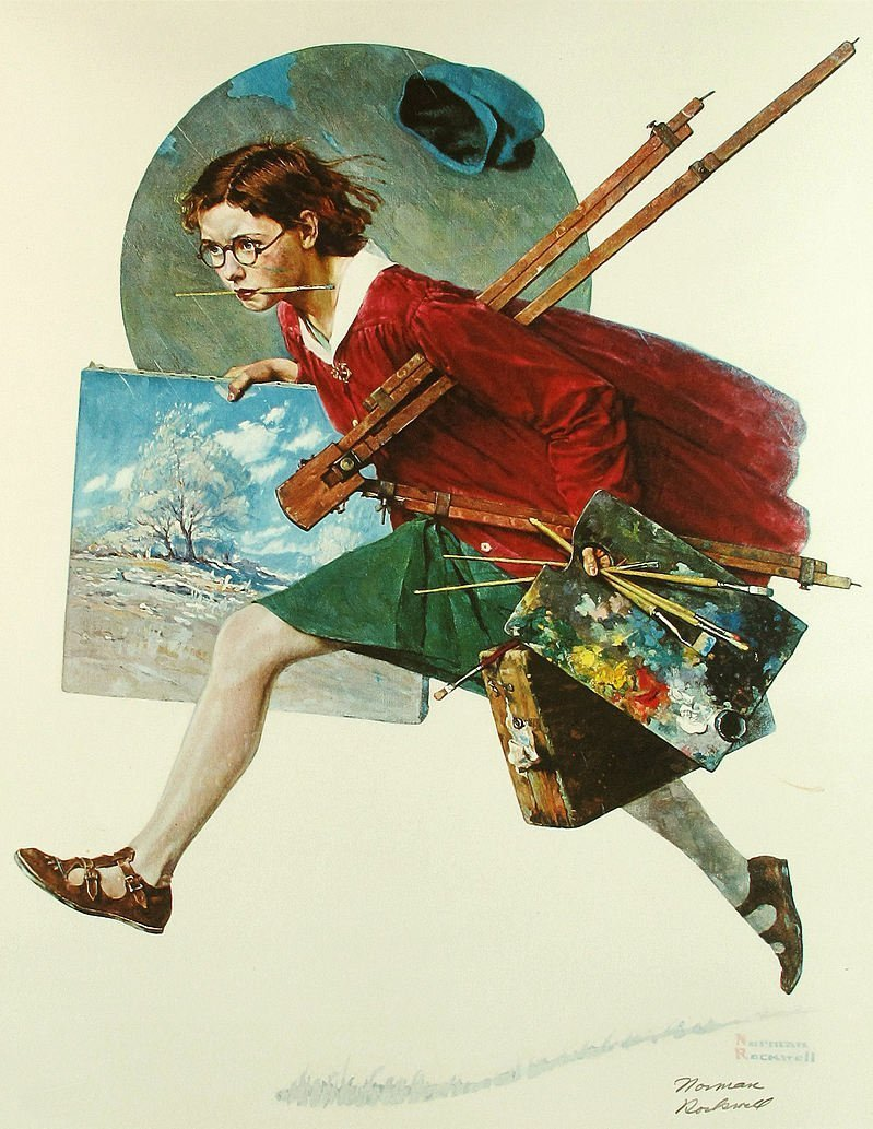 Norman Rockwell, Wet Paint Offset Lithograph