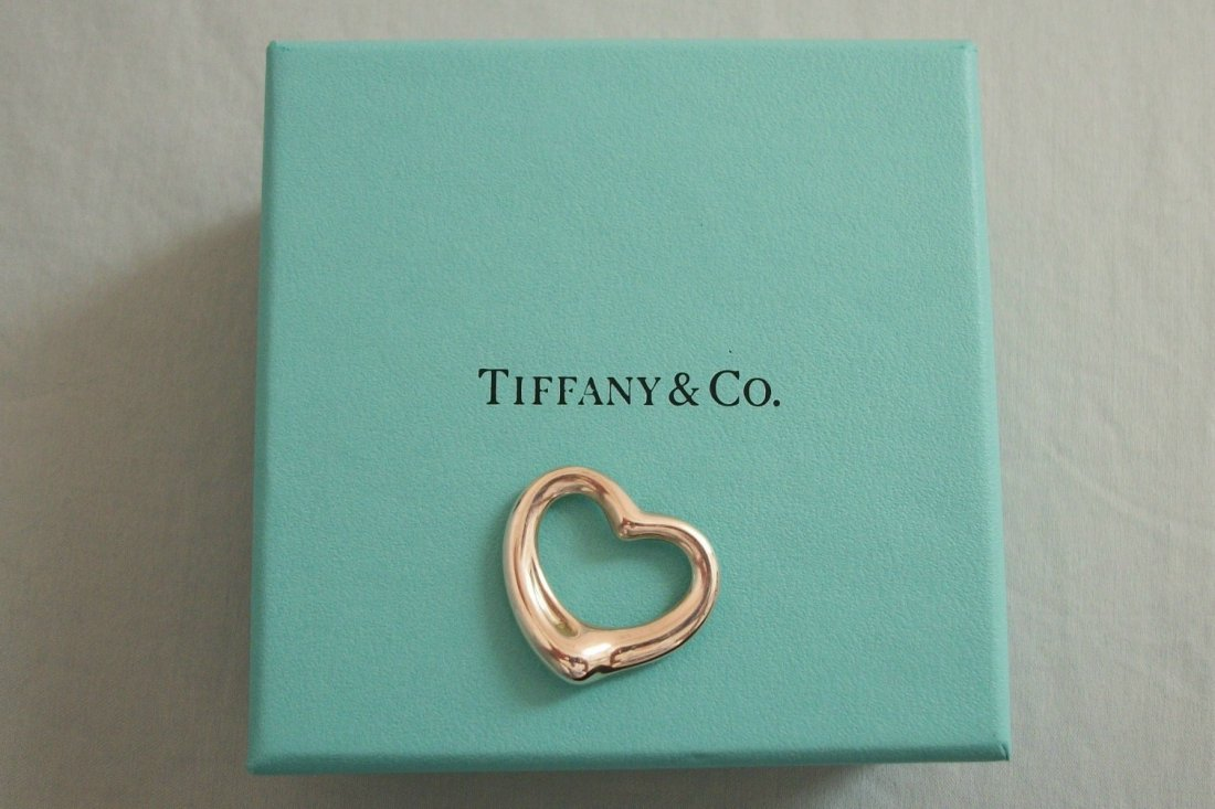 1A: Authentic Tiffany & Co Sterling Silver Floating Hea
