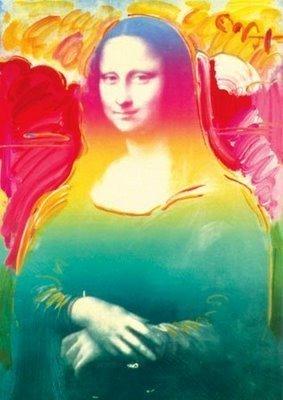 "1AB: Peter Max ""Mona Lisa"" Acrylic Offset Lithograph Fr"