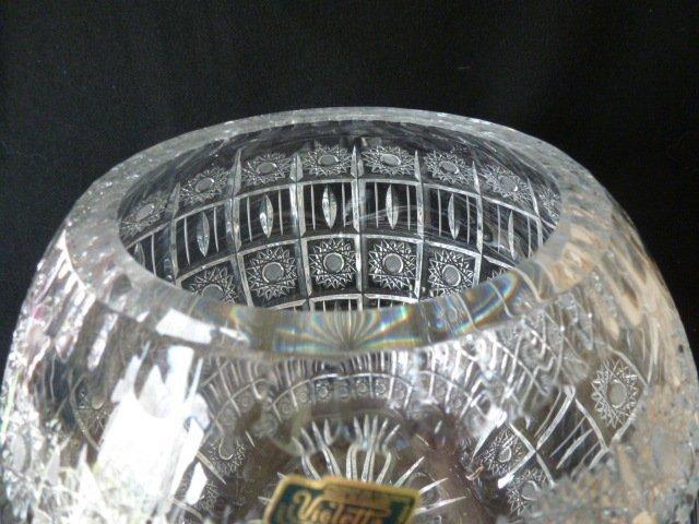 15b Violetta 24 Huge Crystal Rose Bowl Vase Poland Nr