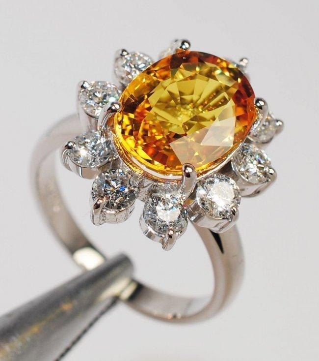 1: 5.50ct Yellow Sapphire & 1.50ct Diamond 14KT Gold R