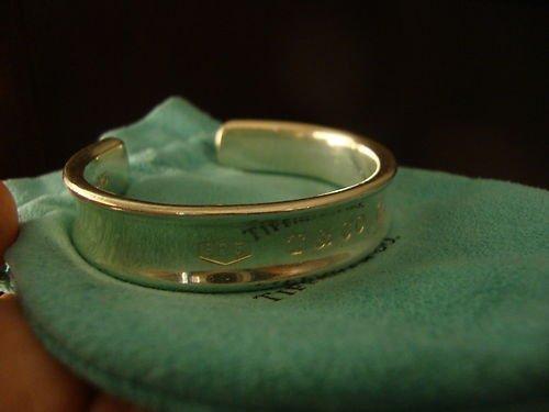 2D: 100% Authentic Tiffany & Co 1837 Cuff Bangle Brace