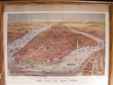 1BA ORIGINAL CURRIER AND IVES LITHOGRAPH CITY OF NEW
