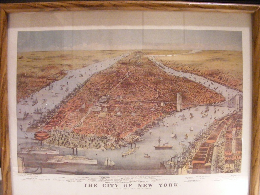 1BA: ORIGINAL CURRIER AND IVES LITHOGRAPH ~'CITY OF NEW
