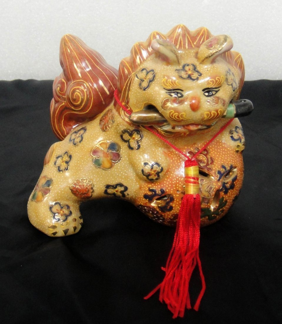 6B: Chinese Lucky Cat Porcelain Figure 4""