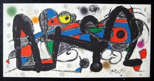 1AC: Miro Sculptor - Portugal Litho on Stone, Plate Sig