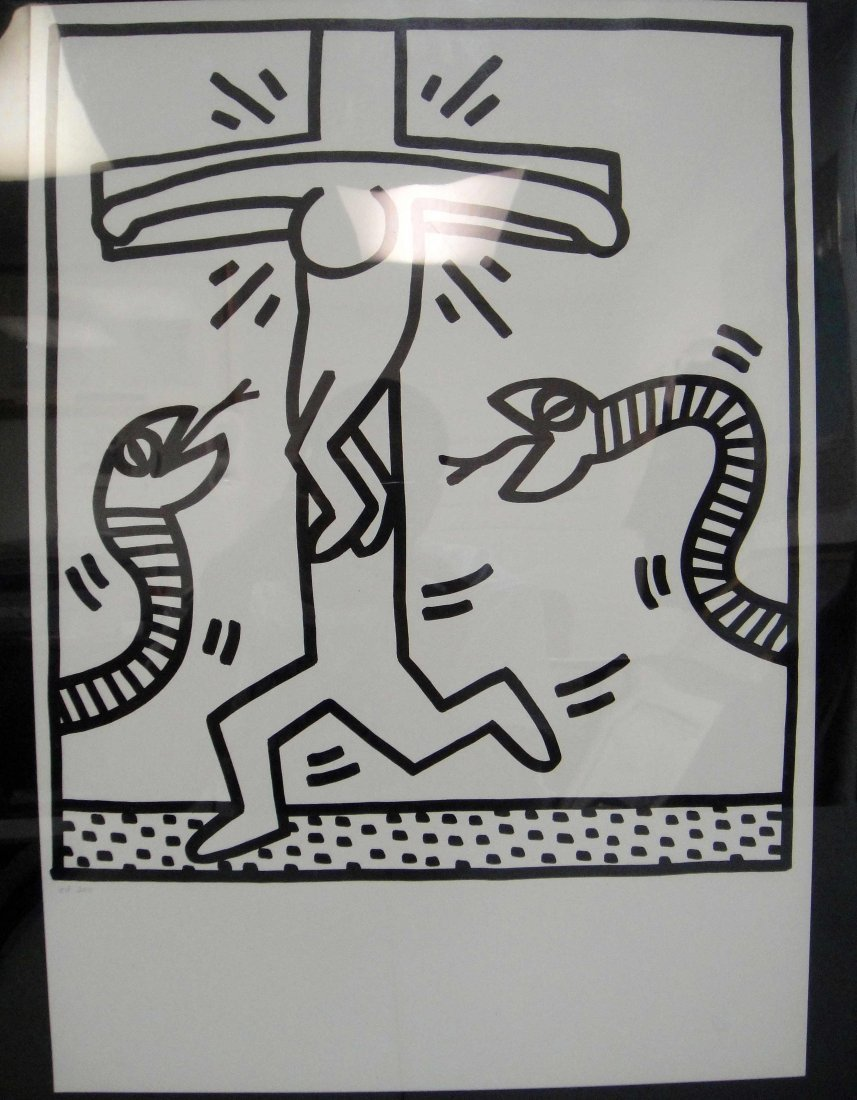 5B: Keith Haring - Untitled 1983 Lithograph on Paper