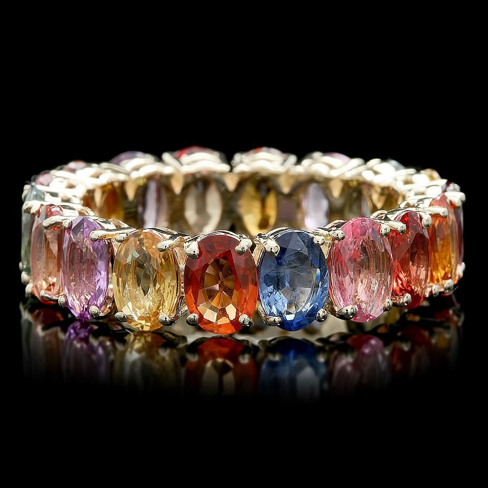 4: $4800 CERTIFIED 14K YELLOW GOLD 9.50CT SAPPHIRE RING