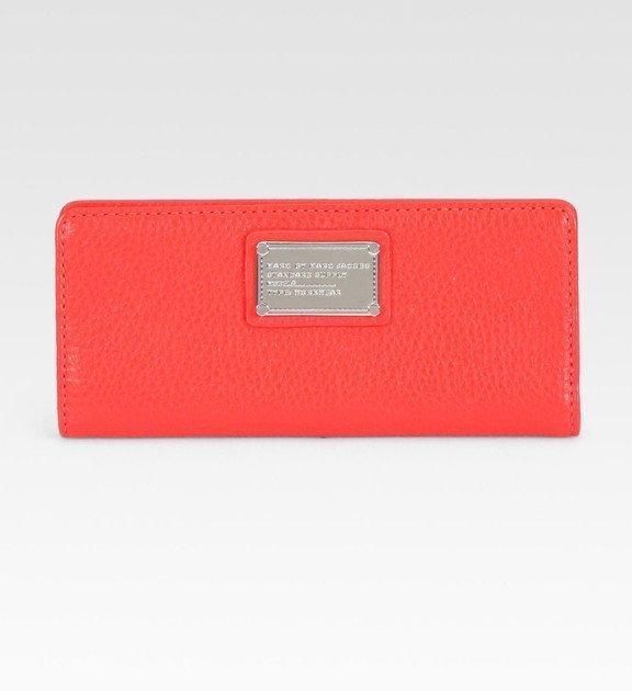 1M: Marc Jacobs Classic Q Slim Zip Around Wallet Rose