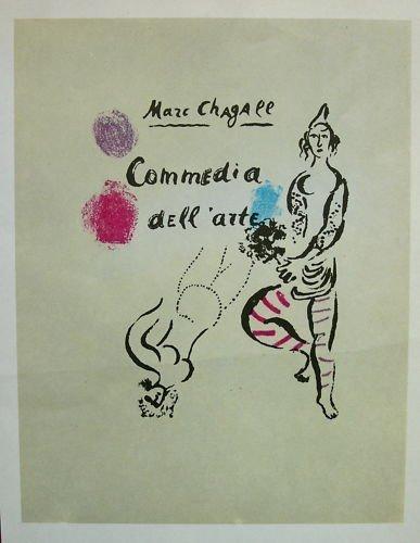 3A: MARC CHAGALL 1966 Commedia dell'arte Offset Lithogr