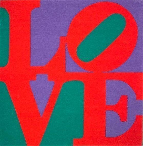 "Robert Indiana ""CHOSEN LOVE"" Wool Gug Signed"