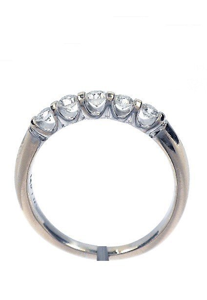 5: 14KT White Gold, 0.56ctw Diamond Ladies Ring