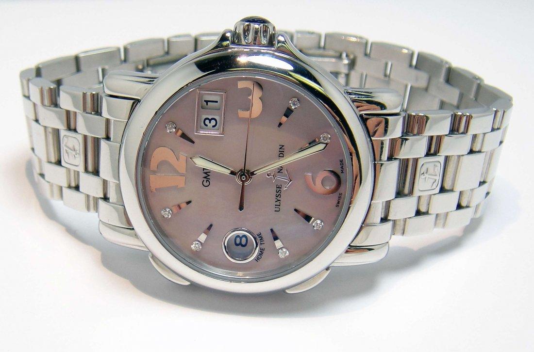 Original ULYSSE NARDIN San Marco GMT MOP Wristwatch