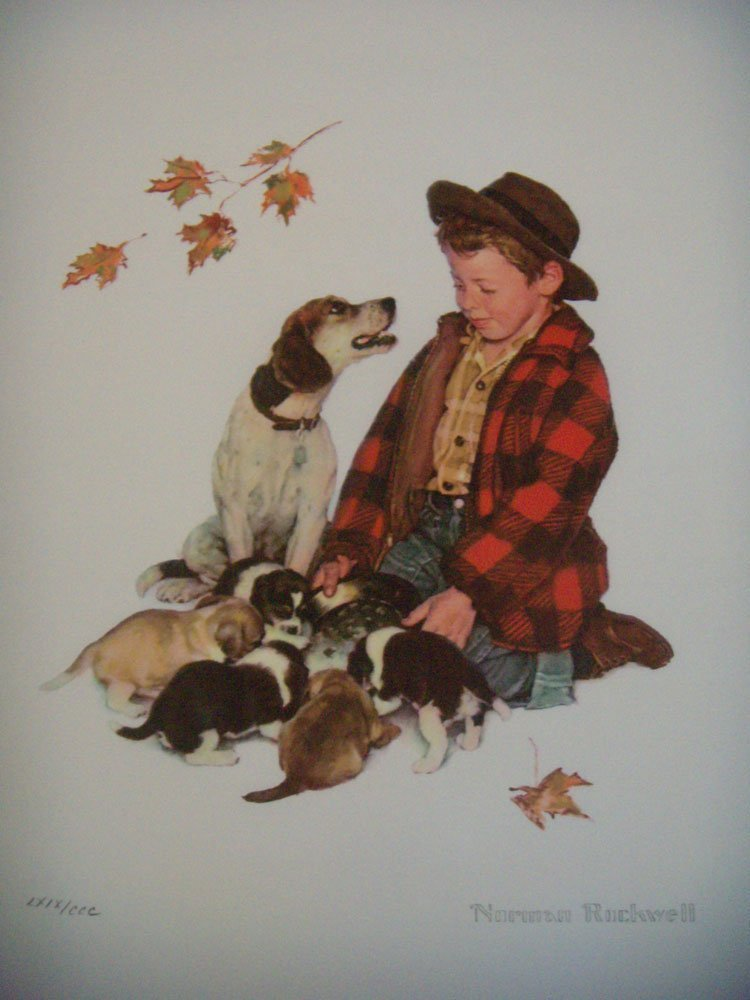 "1A: Norman Rockwell ""puppy love sutte"""