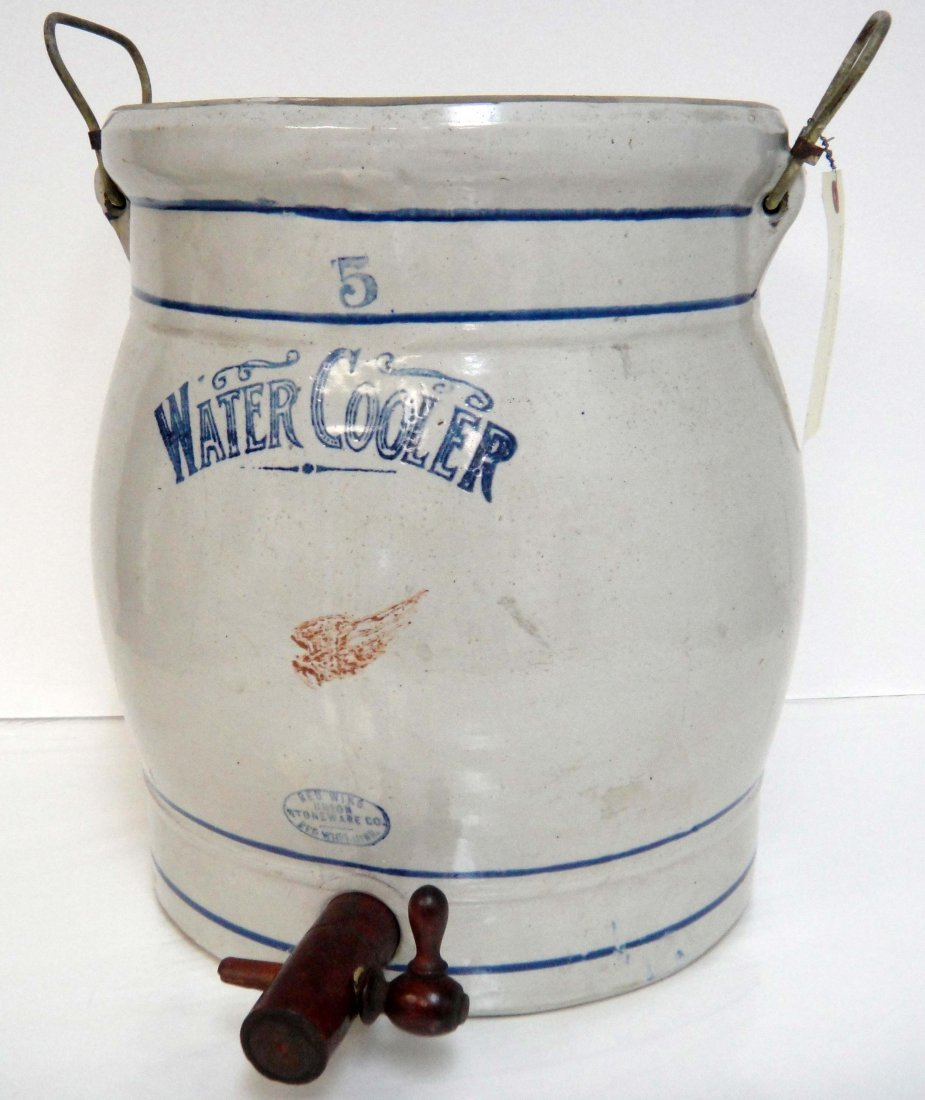 Antique American Redwing Stoneware Water cooler
