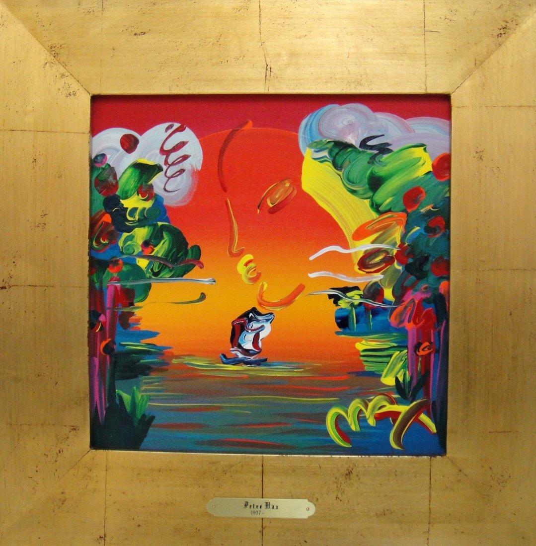 "Peter Max ""Better World"" Original acrylic on Canvas"
