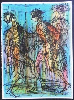 "Jean CARZOU : ""Les Arlequins"" - LITHOGRAPHIE ORIGIN"