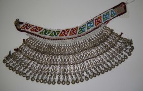 4B: Antique 1800s Afghanistan Choker Bead Necklace