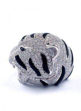 2.51ct Diamond & 2.02ct Black Onyx 14KTW Gold Ring