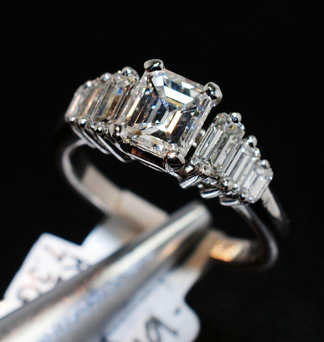 1.98ctw, 1.06 VVS-1 F Center Diamond Platinum Ring