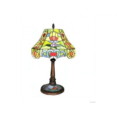 2BZ: Warehouse of Tiffany 17-in Table Lamp with Shade