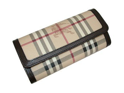 1: Burberry Wallets  Nova Check Checkbook.
