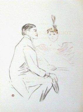 """5A: Lautrec """"Lucien Guitry et Jeanne Granier"""" Litho Si"""
