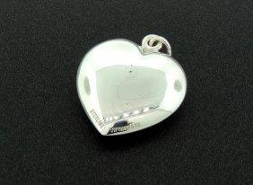 1B: TIFFANY & Co. Puffed Heart Pendant, Sterling Silve
