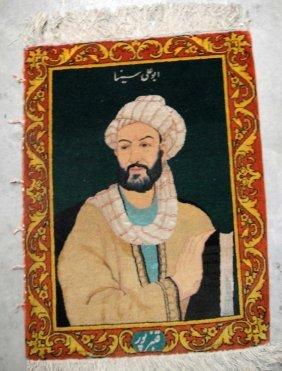 "3B: Antique Persian Mini handmade Rug ""Abu ali Sina"""