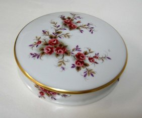 Limoges France Vintage Porcelain Round Container