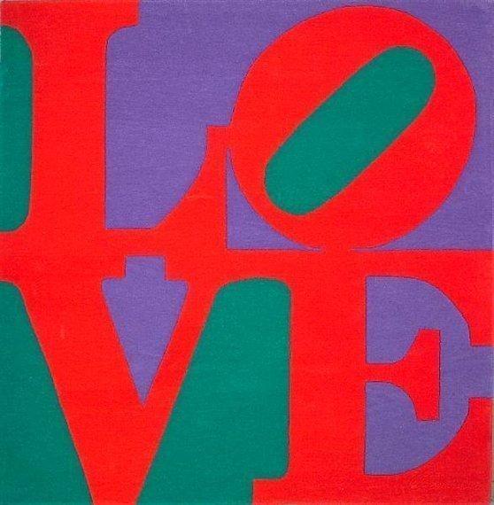 "96C: Robert Indiana ""CHOSEN LOVE"" Wool Gug Signed"