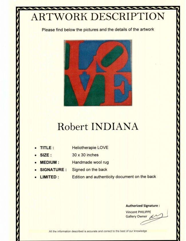 "96C: Robert Indiana ""CHOSEN LOVE"" Wool Gug Signed - 2"