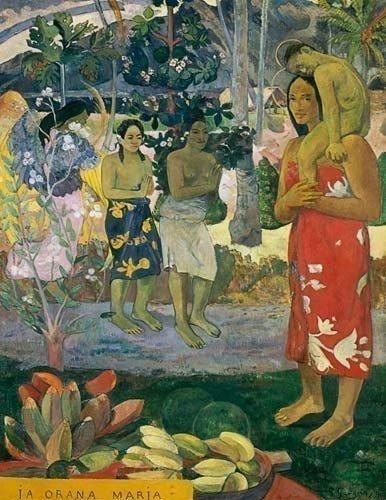 "4A: Paul Gauguin """"La Orana Maria"""" Giclee"
