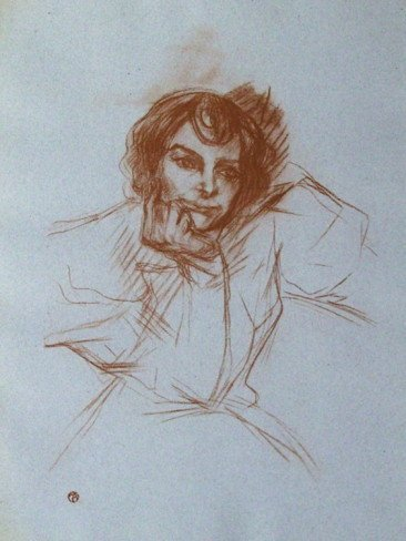 5A: Berthe Bady by Lautrec lithograph Plate Signed