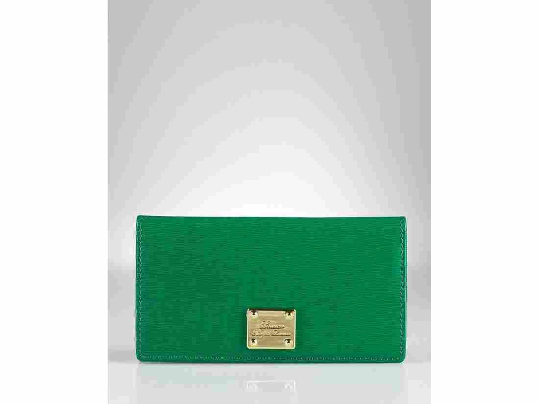 2C: Lauren By Ralph Lauren Newbury Green Leather Slim
