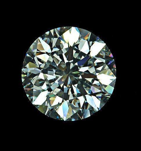 """111: GIA 2.43ct VVS2 """"G"""" Round Brilliant Loose Diamond"""