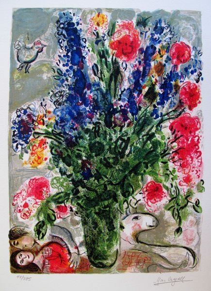 1AB: Marc Chagall LES LUPINS BLEUS Limited Ed.
