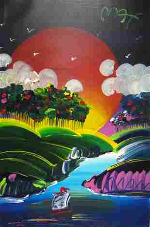 """Peter Max """"Without Borders"""" Original acrylic on Canvas"""